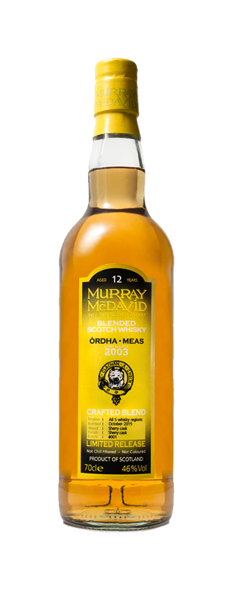 Murray McDavid Whisky Crafted Blend Ordha Meas
