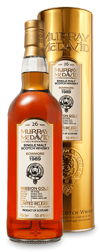 Murray McDavid Whisky Mission Gold Bowmore 1989