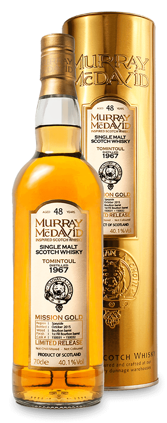 Murray McDavid Whisky Mission Gold Tomintoul 1967